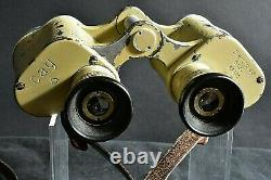 100% ORIGINAL 6X30 GERMAN WW2 cag SWAROVSKI BINOCULARS WITH RECTICULE & STRAP