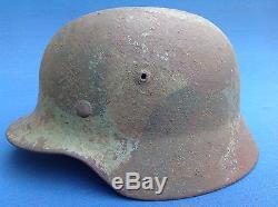 100% Original Ww2 Et64 German Elite Combat Storm Trooper Camouflaged Helmet