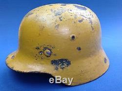 100% Original Ww2 German Luftwaffe Crete Infantry Combat Helmet & Liner