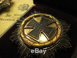 100% Original WW2 WWII WH Army Infanterie Officer Knights German Iron Cross Gold