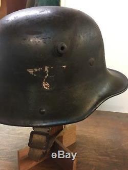 100% Original WWII German Double Decal Transitional Helmet SA Sturmabteilung