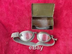 100% Original Ww2 German Army Motorcyclist's Goggles Set Dated'40' (1940)