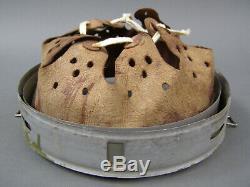 #19 Original German WWII Zinc Helmet Liner 64nA/56 Dated 1940 Post War Dyed