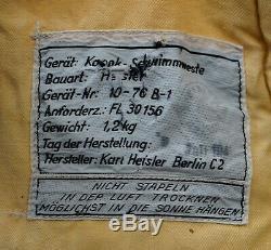 1943 WWII German Luftwaffe Pilot Kapok Schwimmweste Life Vest Jacket Fl-3015 Tag