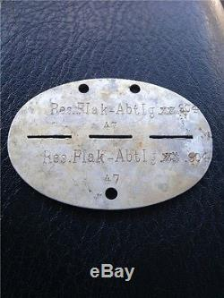 33 WW2 German Soldier's Dogs Tag Found In Stalingrad 100% Original