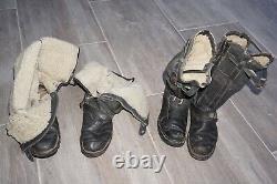 4 German pilot boots for aircraft crews Deutsche Luftwaffe Wilop Original WW2