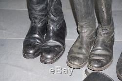 4 Pair German Marching Officer Boots + 1 Pair of Gaiters Leather Original WW2