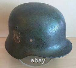 An Original WW-II German M. 35 Helmet Shell from the Guernsey Garrison 1940-45