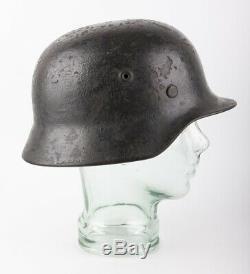 Authentic World War 2 German Quist M40 Helmet, Original Decal, Paint & Liner