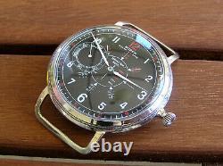 Buren Grand Prix Original Trophy German Ww2 Military Wristwatch Aviator Pilot