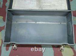 Cassetta tedesca medicazione originale verbandkasten-German WW2 original aid box