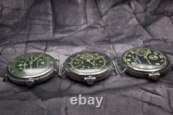 Collection Of 3 German Watch Pilot Luftwaffe Panzer Military Ww2 Type Working