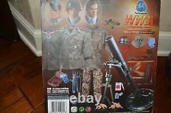 DID WWII 16 Scale German 12th Panzer Hayden Christ with METAL 12cm Mortar, NIB