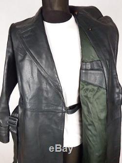 ELSTER 1940's German Horsehide Leather Coat L Vintage Heavy Luftwaffe WW2