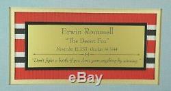 Erwin Rommel'Desert Fox' WW II German Commander Autograph Display Authenticated