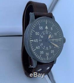 Extremely Rare Stowa B-Uhr Pilot Type B Luftwaffe German WWII Original Strap