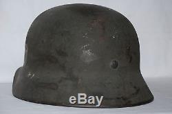 German Helmet M40 Sd Heer Ef 64 Complete Original Ww2 Italian War Front