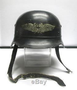 German Wwii Luftschutz Beaded Type M40 Original Helmet & Inner Leather Exc