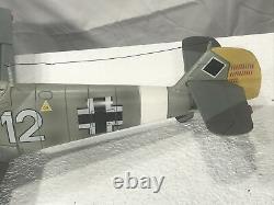 GERMAN WWII Messerschmitt ME-109E 118 Scale Plane w Pilot Ultimate Soldier