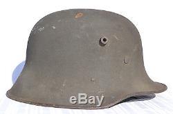 German Wwii Original Sand Camouflage Helmet Stalingrag Feldpost Named Ww2 Camo