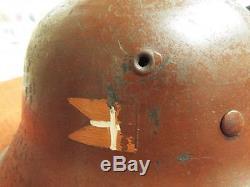 Guaranteed Original Ww2 Danish Resistance German Steel Helmet