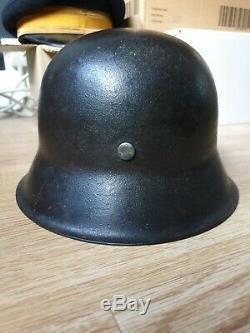 Genuine WW2 German M42 Helmet with original paint