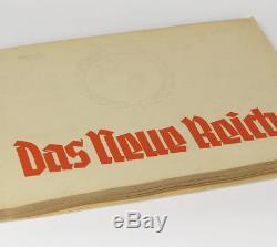 German 30s pre-WW2 Cigarette Card Album with Berlin Reichskanzlei Berghof Rohm +