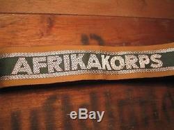 German Afrika Korps cuff title Original WW2 DAK Rare Tropical Rommel TOP mint