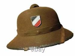 German Elite WWII GERMAN ARMY TROPICAL PITH HELMET AFRIKA CORPS 1942 L@@K