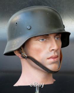 German Helmet Ww2 M40 Pattern Huge Size Quist 68 Original Helmet Sd Heer Copy