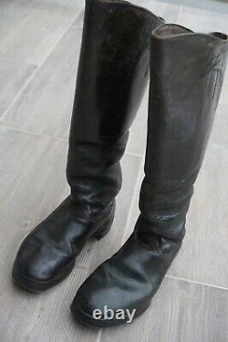 German Marching Cavalry Combat Boots Black Leather Nailed Sole Original Ww2