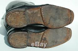 German ORIGINAL WWII Officers Black Leather Jackboots Pair
