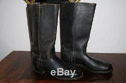 German Officer Boots Black Leather nailed sole Mint Condition Original WW2
