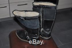 German Pilot Boots Mint Condition Soles Length 32,5cm! Unique Original WWII