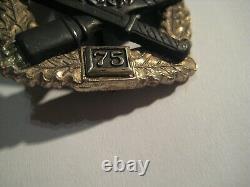 German WW II general assault badge 75 rare original badge Wehrmacht medal