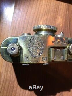 German WW2 Kriegsmarine Leica Leitz Elmar camera with original case & neck strap