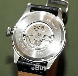 German WW2 MWC LUFTWAFFE PILOT B-UHR AUTOMATIC WRIST WATCH Flight Hack Flieger