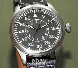 German WW2 MWC LUFTWAFFE PILOT B-UHR AUTOMATIC WRIST WATCH MINT Flight Aviator
