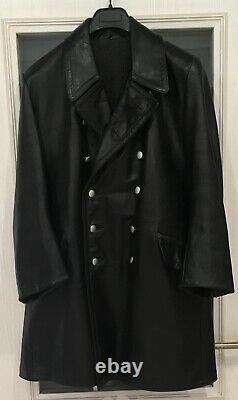 German WW2 original Kriegsmarine / Waffen-SS leather coat