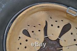 German WWII M42 Helmet HKP62 Original Sand Camo Grey Green WW2 Camouflage Heer