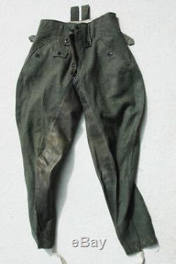 German WWII ORIGINAL Army officer/NCO flared trousers 1944 dated
