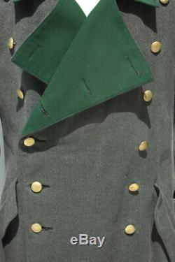 German WWII ORIGINAL Forestry Generals Greatcoat NICE
