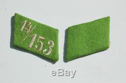 German WWII ORIGINAL Pre-war collar tabs Unissued