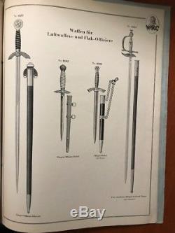 German WWII Period Original WKC Waffenfabrik Sword & Dagger Catalog
