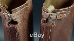 German Ww2 Officers Boots, Brown, 100% Original