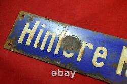German Ww2 Wehrmacht Enamel Porcelain Sign From City Battelfield 1945 War Relic