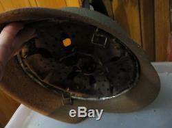 German Ww2 Wwii Original M42 Helmet-spare Vintage Parts-leather-steel Band-bolt