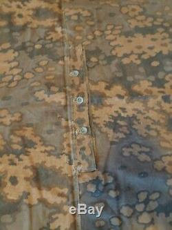 German Zeltbahn waffen oak leaves camo type B (square) WW2 ORIGINAL
