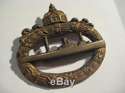 German submarine medal WW I and WW II imperial badge original marker marks rare