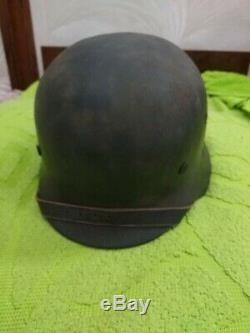Great WW2 Original SS German named helmet double decals